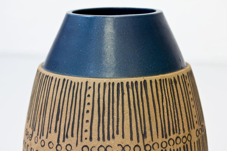 large blue floor vase of handmade stoneware floor vase by lisa larson for gustavsberg sweden regarding handmade stoneware floor vase by lisa larson for gustavsberg sweden 1960s for sale at 1stdibs