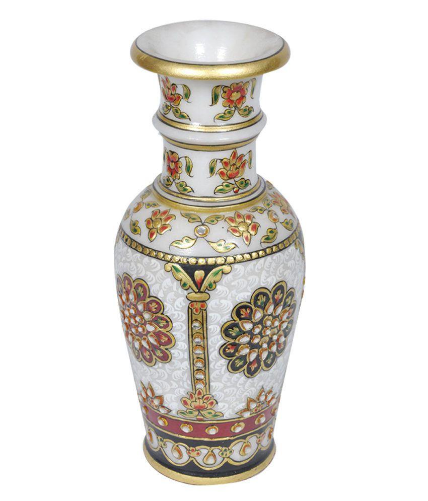 large brass vase of chitrahandicraft multicolour marble flower vase buy with chitrahandicraft multicolour marble flower vase