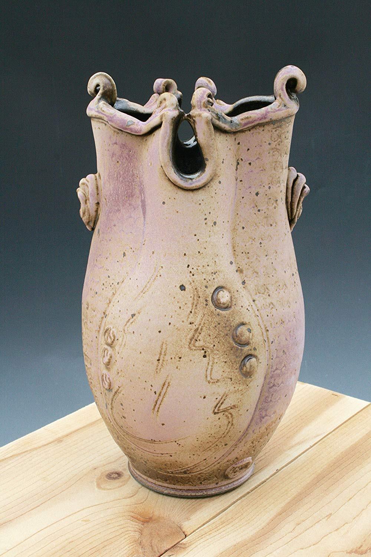 large ceramic vases and urns of amazon com rustic white to lavender vase 51 sculpted pottery vase pertaining to amazon com rustic white to lavender vase 51 sculpted pottery vase wheel thrown ceramic vase sculptural ceramics handmade