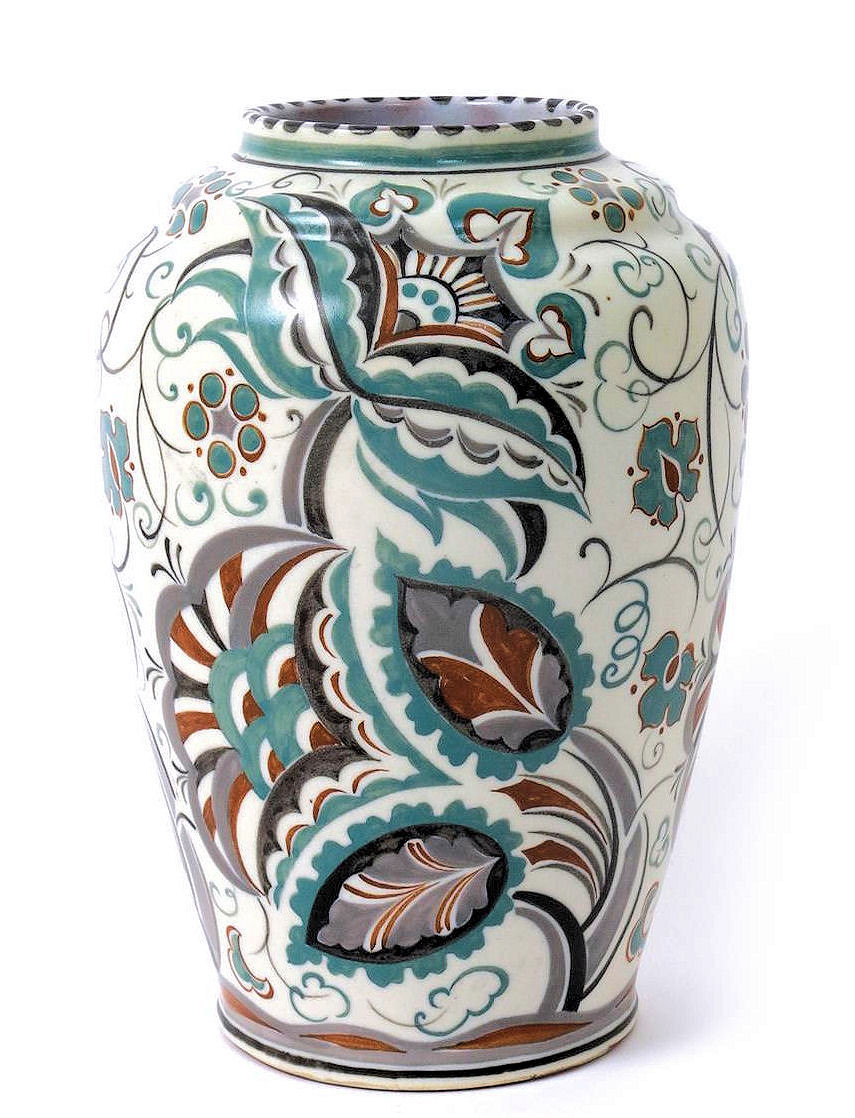 large ceramic vases and urns of traditional the virtual museum of poole pottery with regard to the pattern usually has a sprayed green glaze but the right hand vase is a more unusual variant