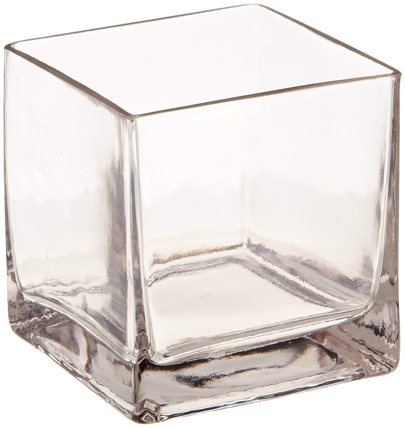 large clear round vase of amazon com 12piece 4 square crystal clear glass vase home kitchen regarding 71 jezfmvnl sl1500