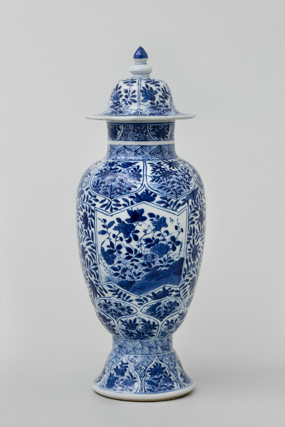 Large Cobalt Blue Vase Of A Chinese Blue and White Baluster Vase and Cover Kangxi 1662 172 Intended for A Chinese Blue and White Baluster Vase and Cover
