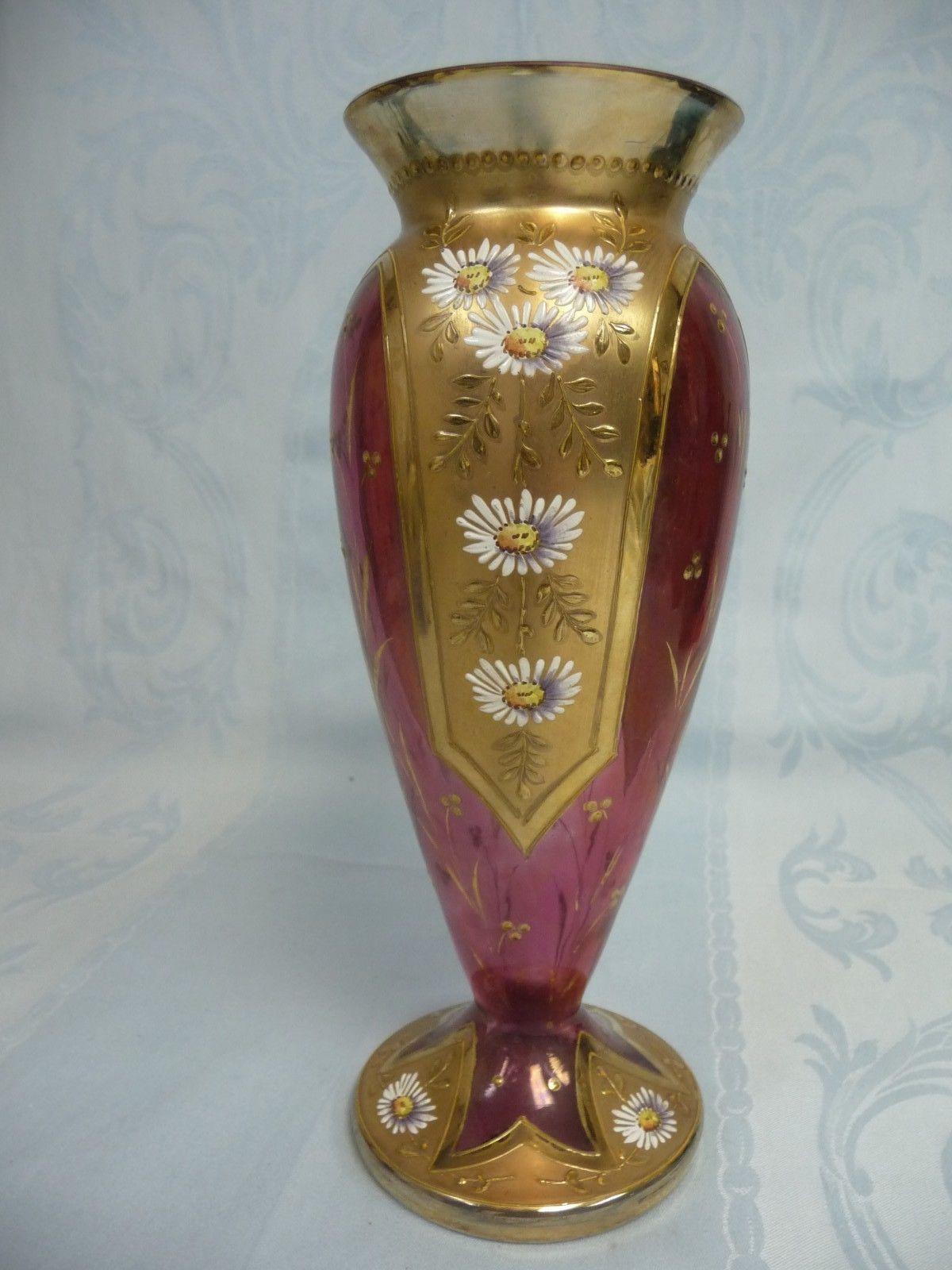 large crackle glass vase of victorian moser heavily gilt enameled cranberry glass vase inside victorian moser heavily gilt enameled cranberry glass vase