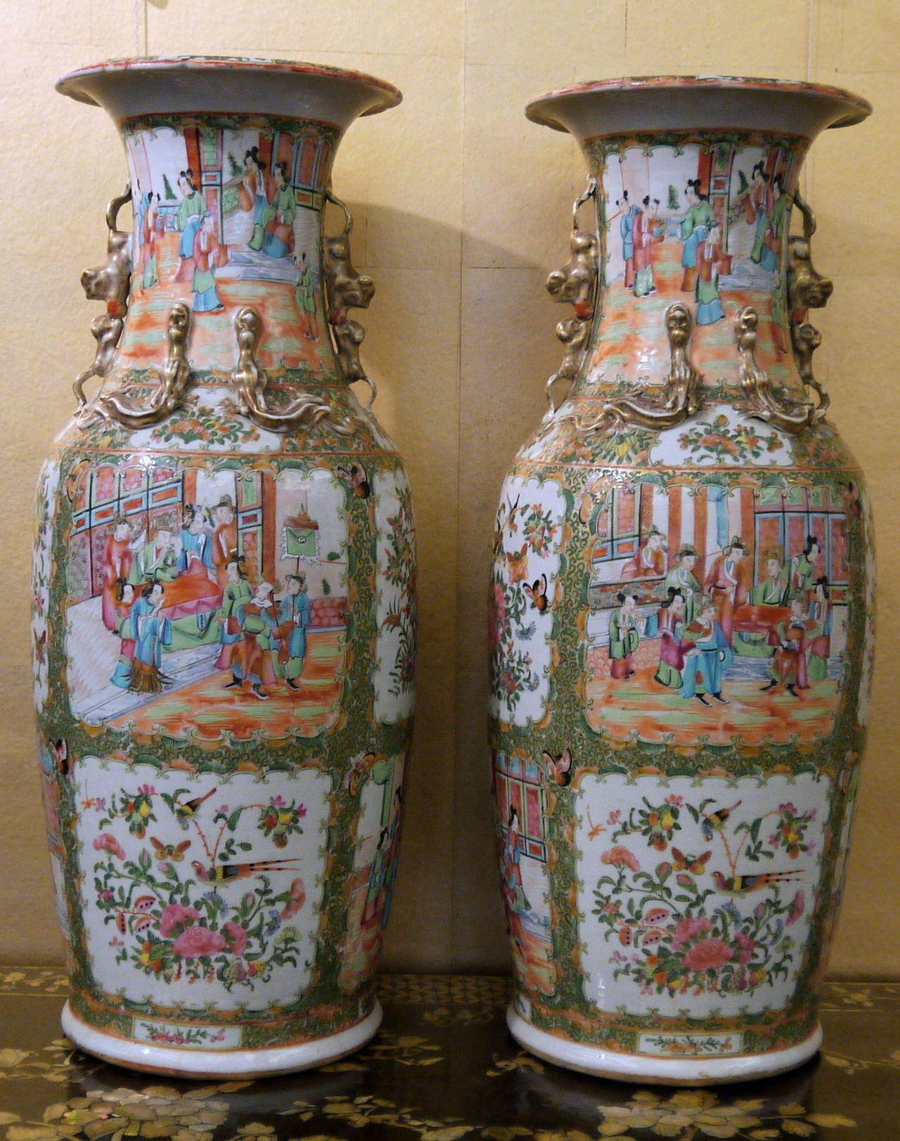 large decorative vases for sale of pair of large chinese rose canton vases in 2018 artwork with regard to pair of large chinese rose canton vases 2