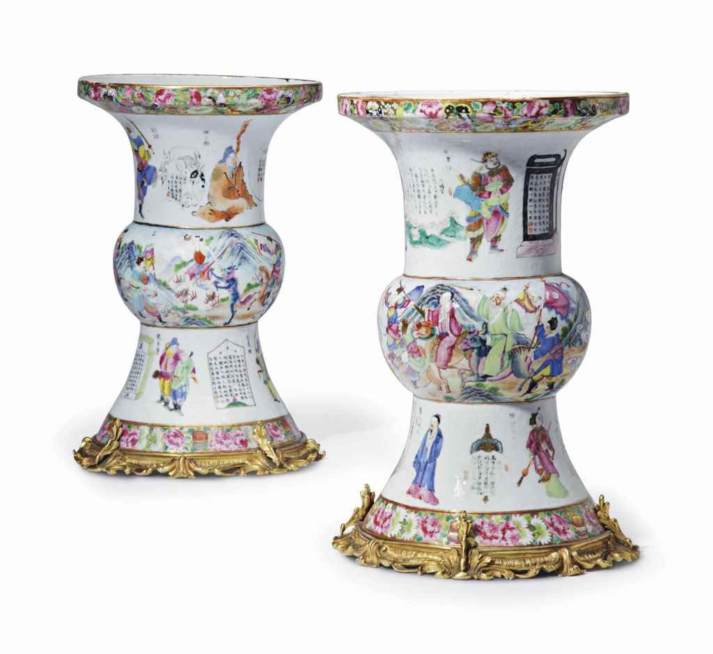 large floor standing vases and urns of a pair of ormolu mounted chinese export famille rose porcelain vases throughout a pair of ormolu mounted chinese export famille rose porcelain vases