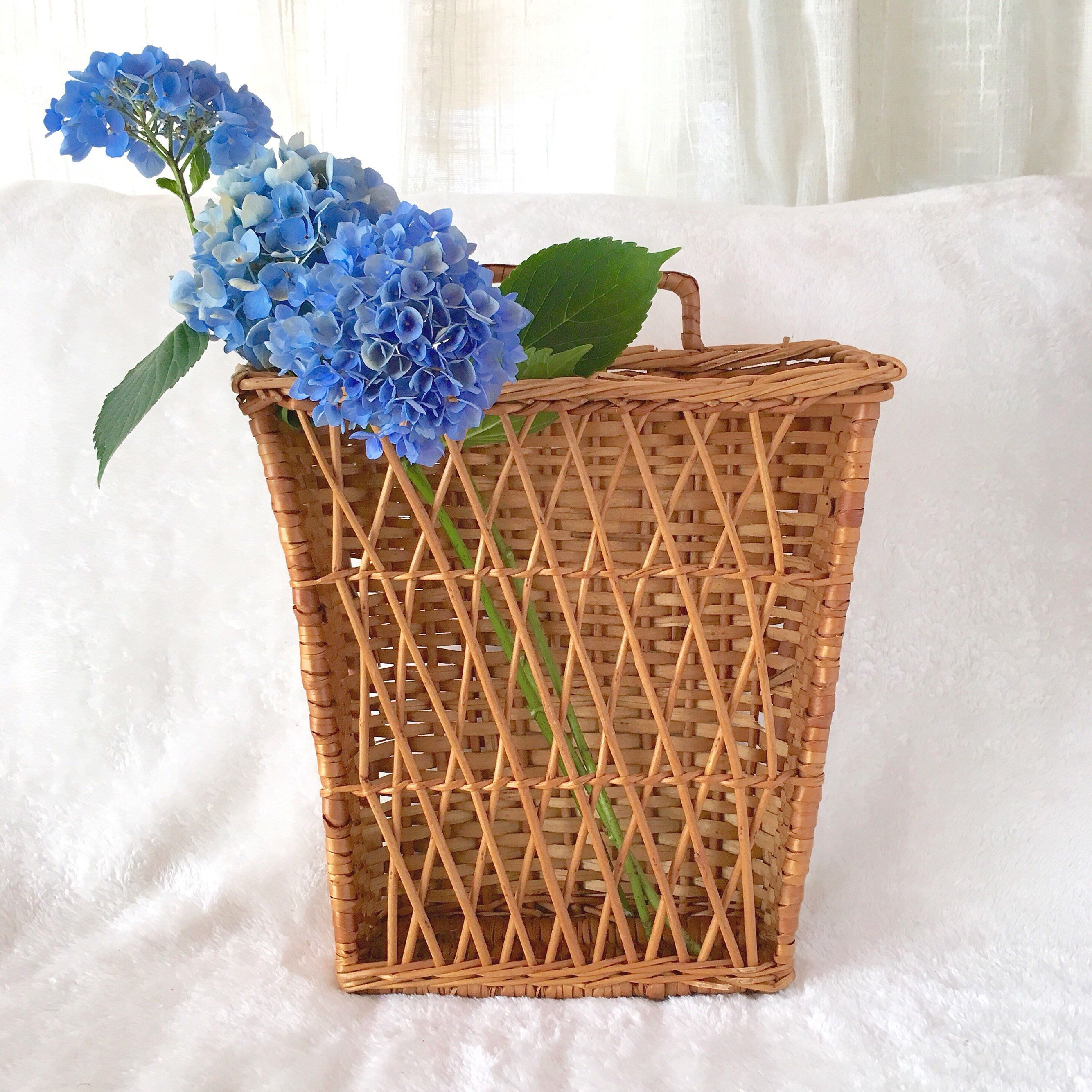 large floral vase of large wall basket pocket hanging with handle greenery vase farmhouse inside large wall basket pocket hanging with handle greenery vase farmhouse style storage organization woven wicker natural bohemian boho hygge