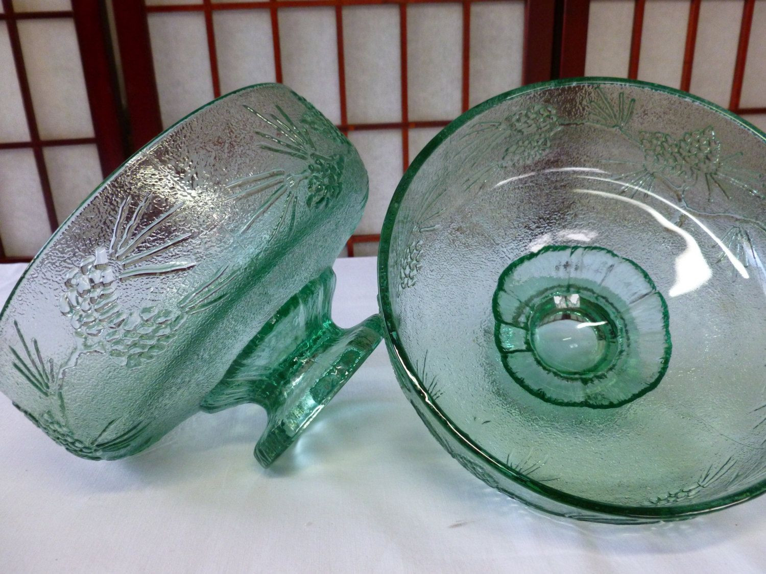 large footed crystal vase of indiana glass large pressed green glass footed compote fruit bowl throughout indiana glass large pressed green glass footed compote fruit bowl centerpiece or planter by indiana glass tiara ponderosa pine