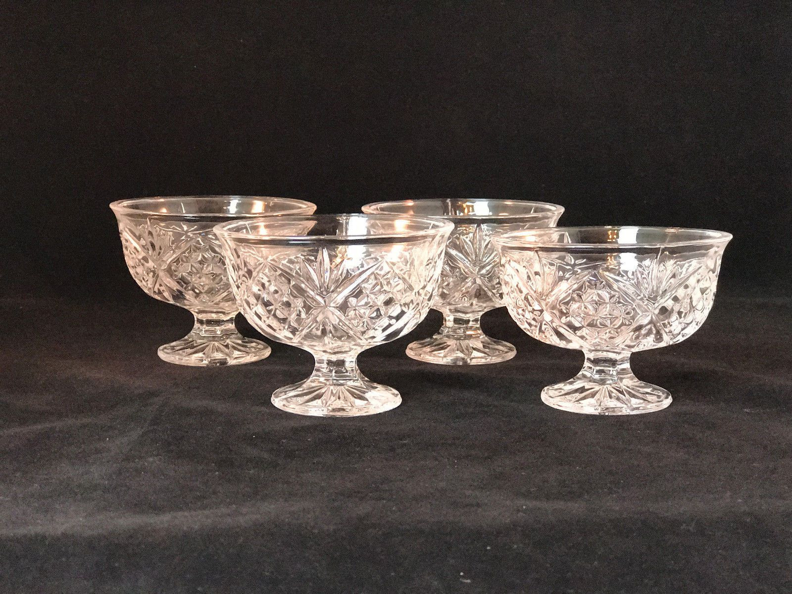 large footed crystal vase of tosimplyshop dublin crystal set 4 footed ice cream dessert cups intended for tosimplyshop dublin crystal set 4 footed ice cream dessert cups shannon crystal godinger new homedecor crystal home