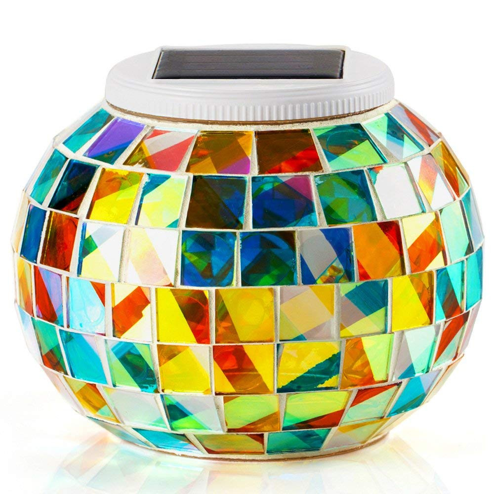 large glass ball vase of solar table lights for outdoor indoor decorations color changing with solar table lights for outdoor indoor decorations color changing mosaic solar powered glass bal