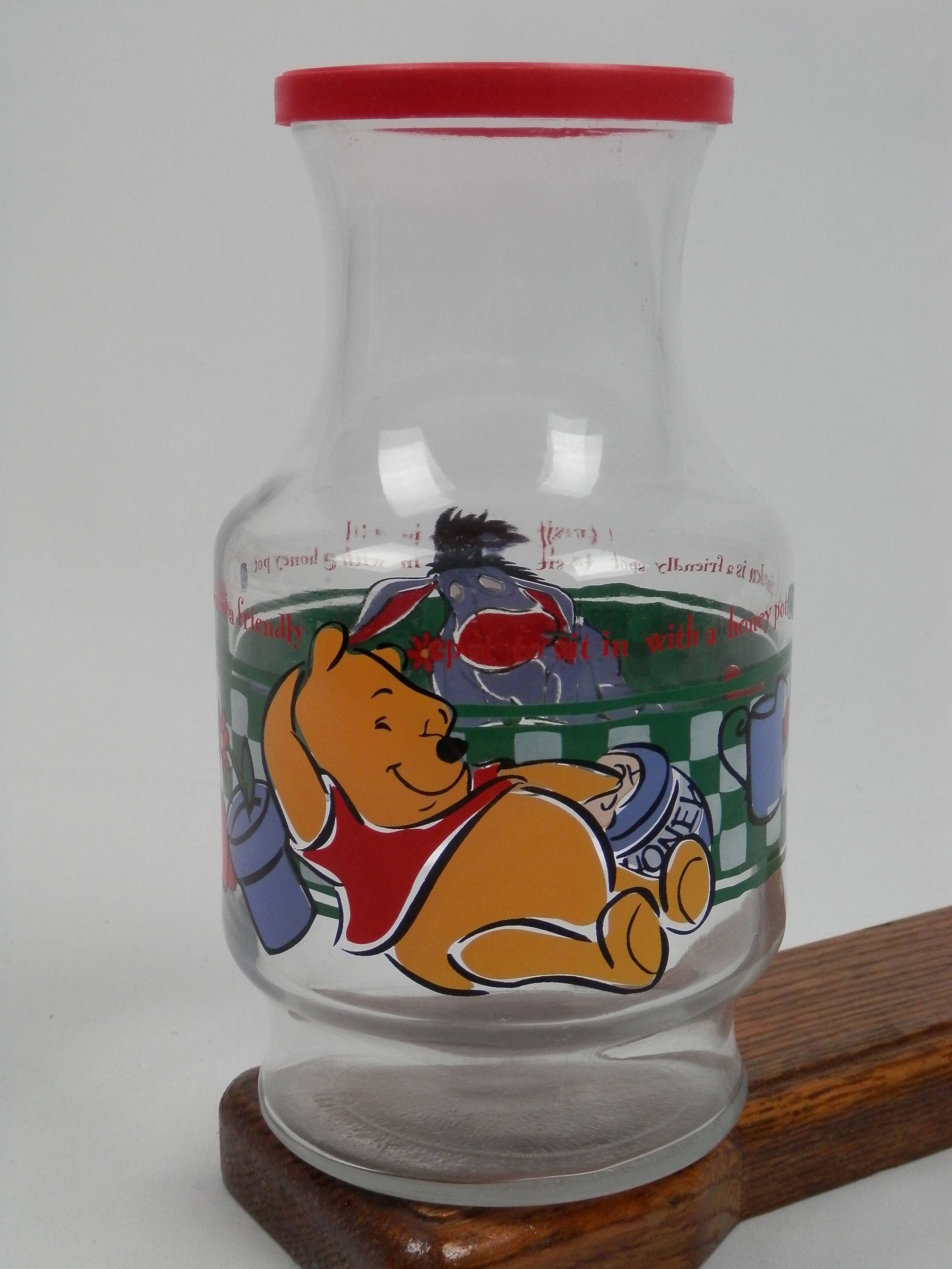 "large glass fish vase of anchor hocking winnie the pooh glass carafe with lid etsy with dŸ""Žzoom"