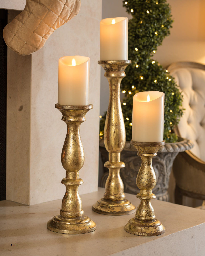 large glass vase candle holders of 20 awesome led candlesticks image in golden wood pillar candle holders