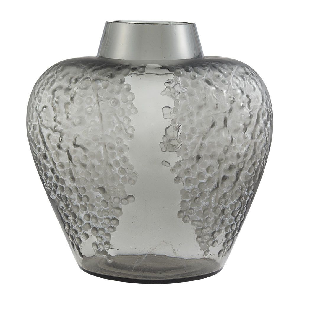 large grey glass vase of r lalique molded glass poivre vase marcilhac no 901 circa 1921 47 throughout r lalique molded glass poivre vase marcilhac no 901 circa 1921 47 of flattened tapering ovoid form with a short tapering circular neck in frosted and