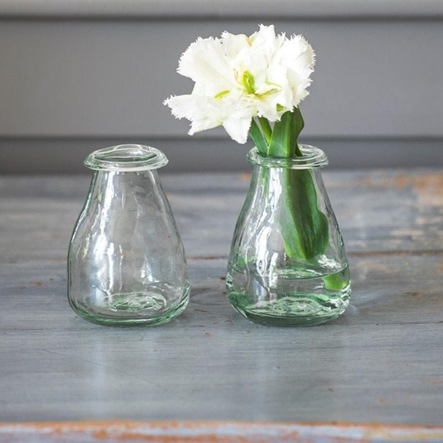 large grey glass vase of set of 2 recycled rustic glass bud vases glass pertaining to glass