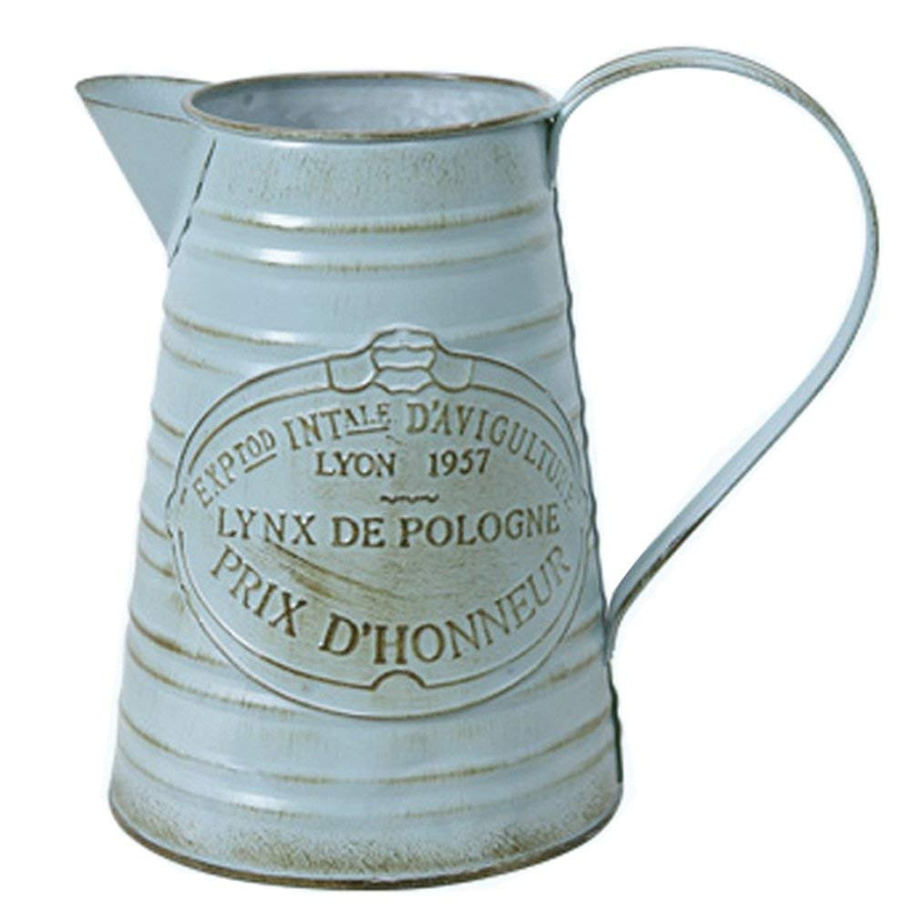 large milk jug vase of amazon com hyfanstr shabby chic rustic style metal jug pitcher throughout amazon com hyfanstr shabby chic rustic style metal jug pitcher flower vase can home kitchen