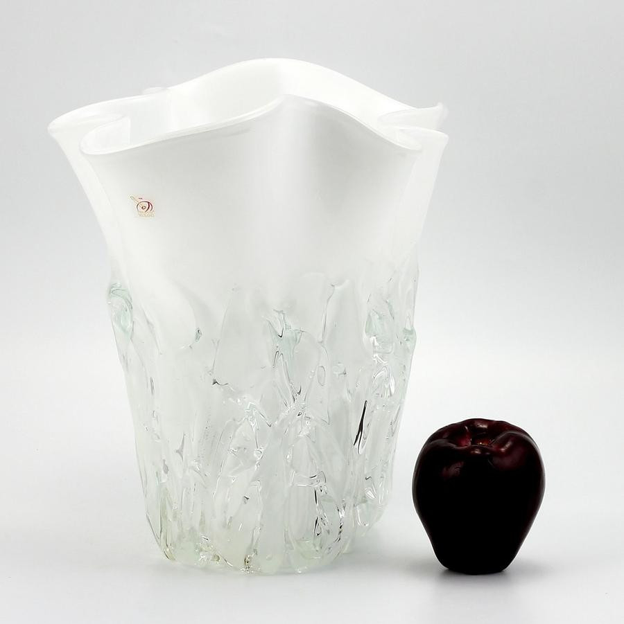 large navy blue vase of shop by price 501 to 1000 artistica com with regard to murano original short vase milk white clear wavy rim smooth and textured surface