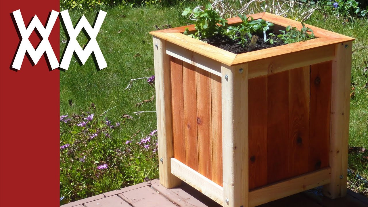 large outdoor pottery vases of build an easy inexpensive wood planter box youtube inside maxresdefault