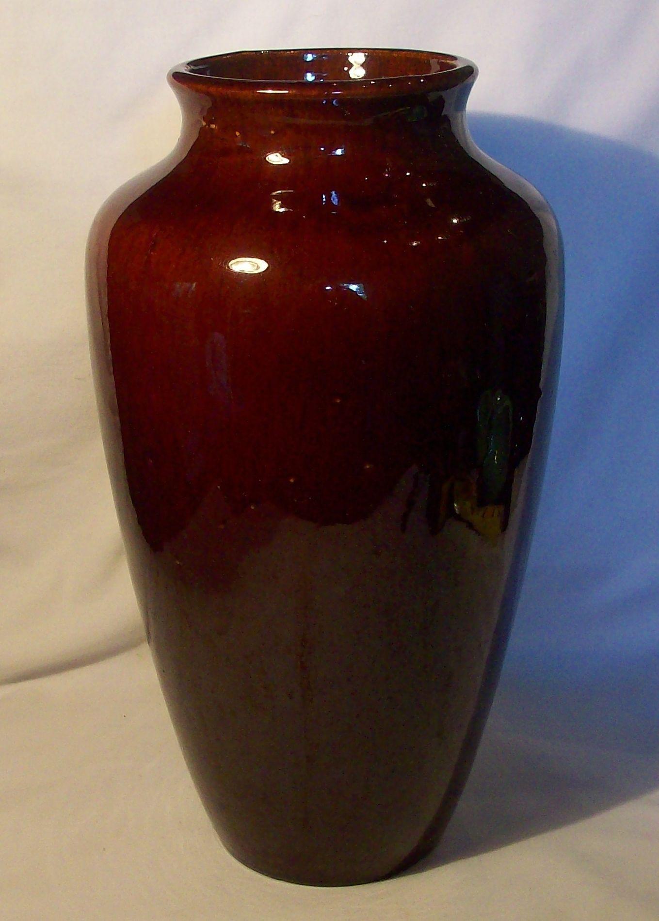 large red floor vase of vintage zanesville stoneware large floor vase vintage pottery from with regard to vintage zanesville stoneware large floor vase