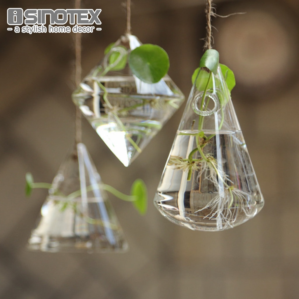 Large Round Glass Vase Of Hanging Glass Vase Geometric Diy Planting Hydroponic Plant Flower Throughout Hanging Glass Vase Geometric Diy Planting Hydroponic Plant Flower Container Home Garden Decor Terrarium Home Party Decoration In Vases From Home Garden On