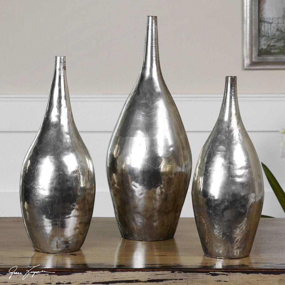 large silver vases urns of vase set vasen pinterest contemporary vases throughout contemporary vases