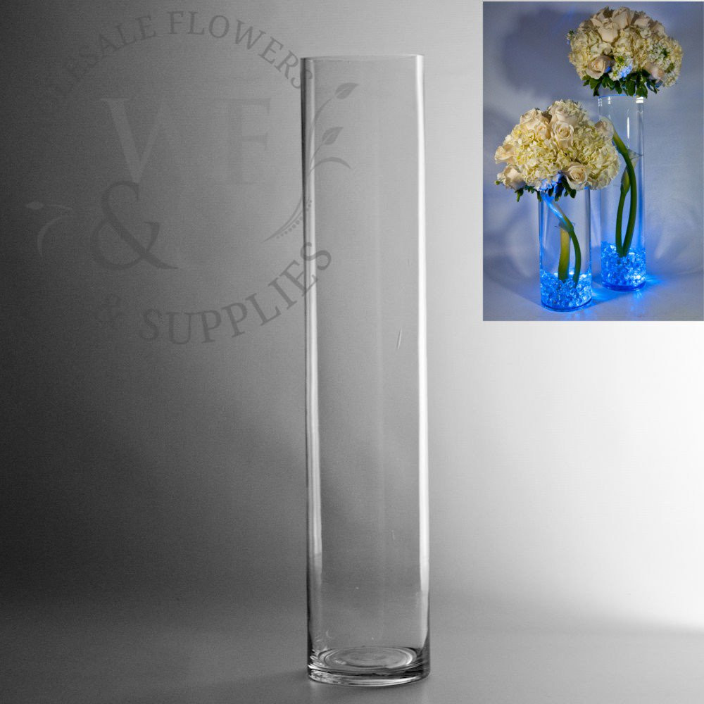 Large Square Clear Glass Vases Of Glass Cylinder Vases wholesale Flowers Supplies with 20 X 4 Glass Cylinder Vase