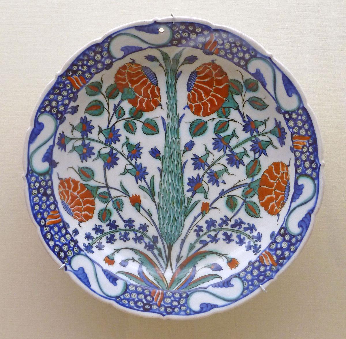 large terracotta floor vases of iznik pottery wikipedia inside 1200px cypress tree decorated ottoman pottery p1000591 jpg