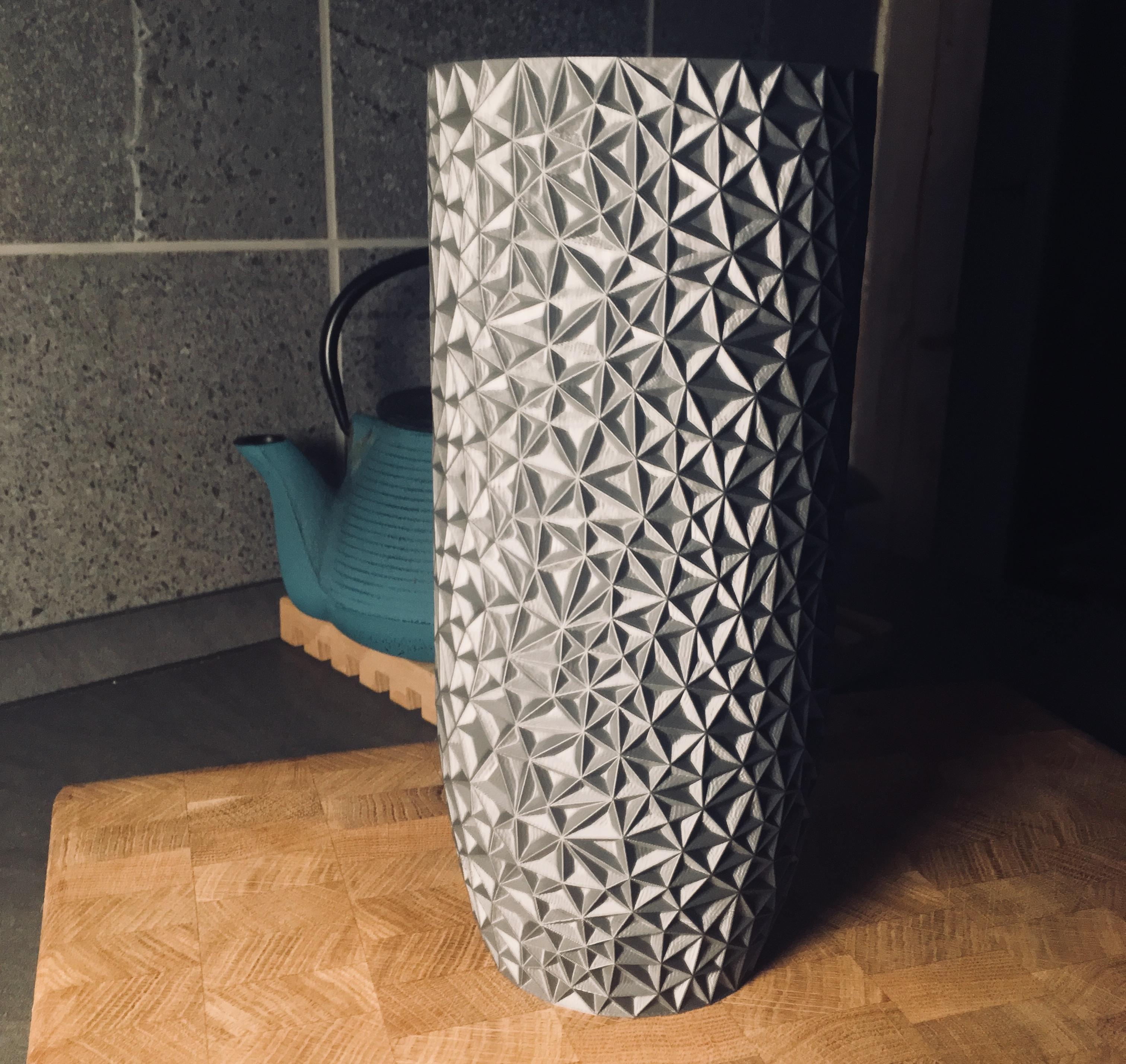large turquoise vase of polygon vase by antonin nosek thingiverse with regard to by antonin nosek jan 13 2018 view original