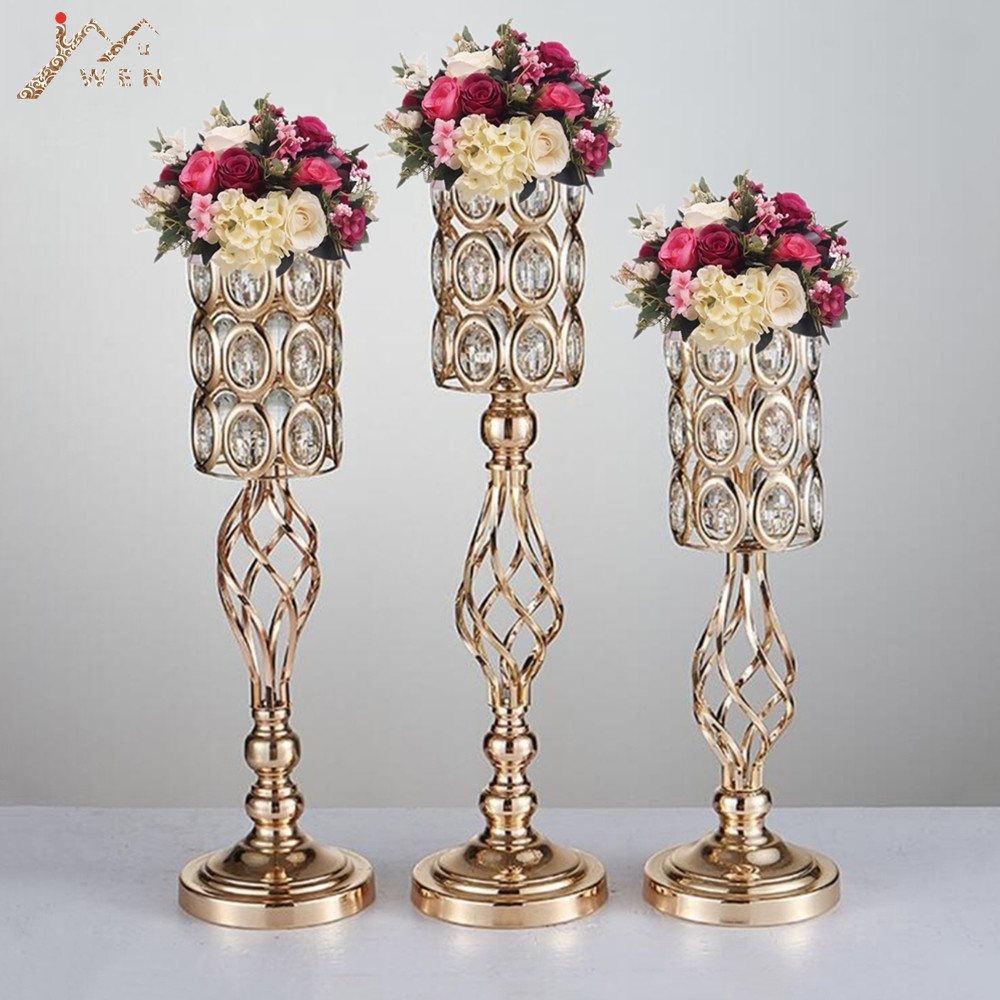 Large Vase Candle Holder Of Aliexpress Com Buy 10pcs Metal Flower Vases Gold Candle Holders Regarding Aliexpress Com Buy 10pcs Metal Flower Vases Gold Candle Holders Hollow Wedding Table Centerpieces Candelabra Flower Rack Road Lead Party Decoration From
