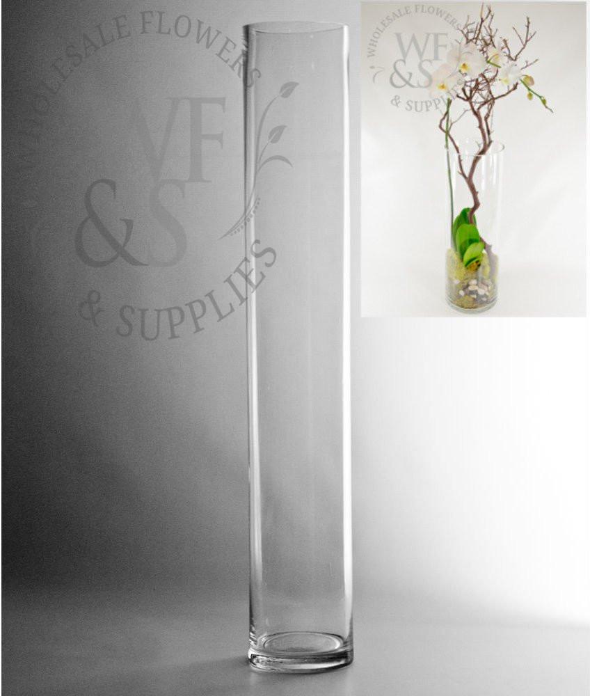Large Vase Candle Holder Of Glass Cylinder Vases wholesale Flowers Supplies Pertaining to 24x4 Glass Cylinder Vase