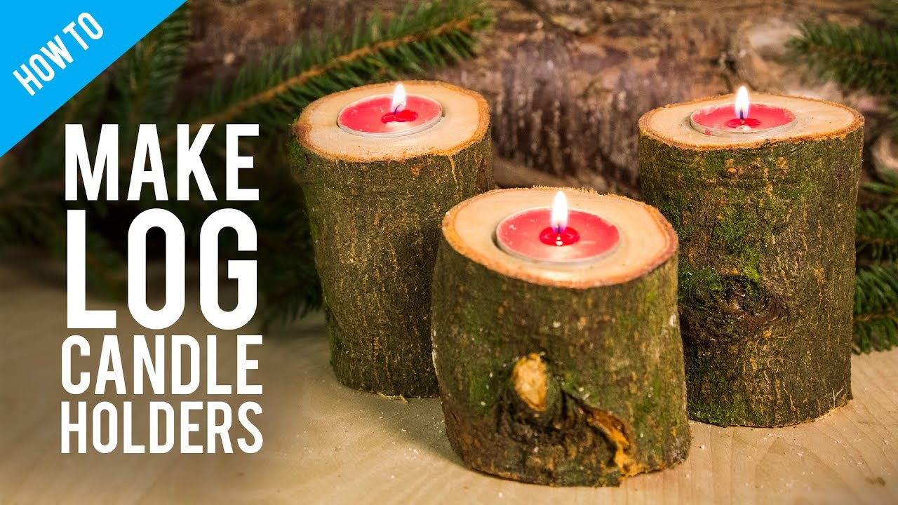 Large Vase Candle Holder Of How to Make Rustic Wooden Log Candle Holder Youtube Inside Maxresdefault