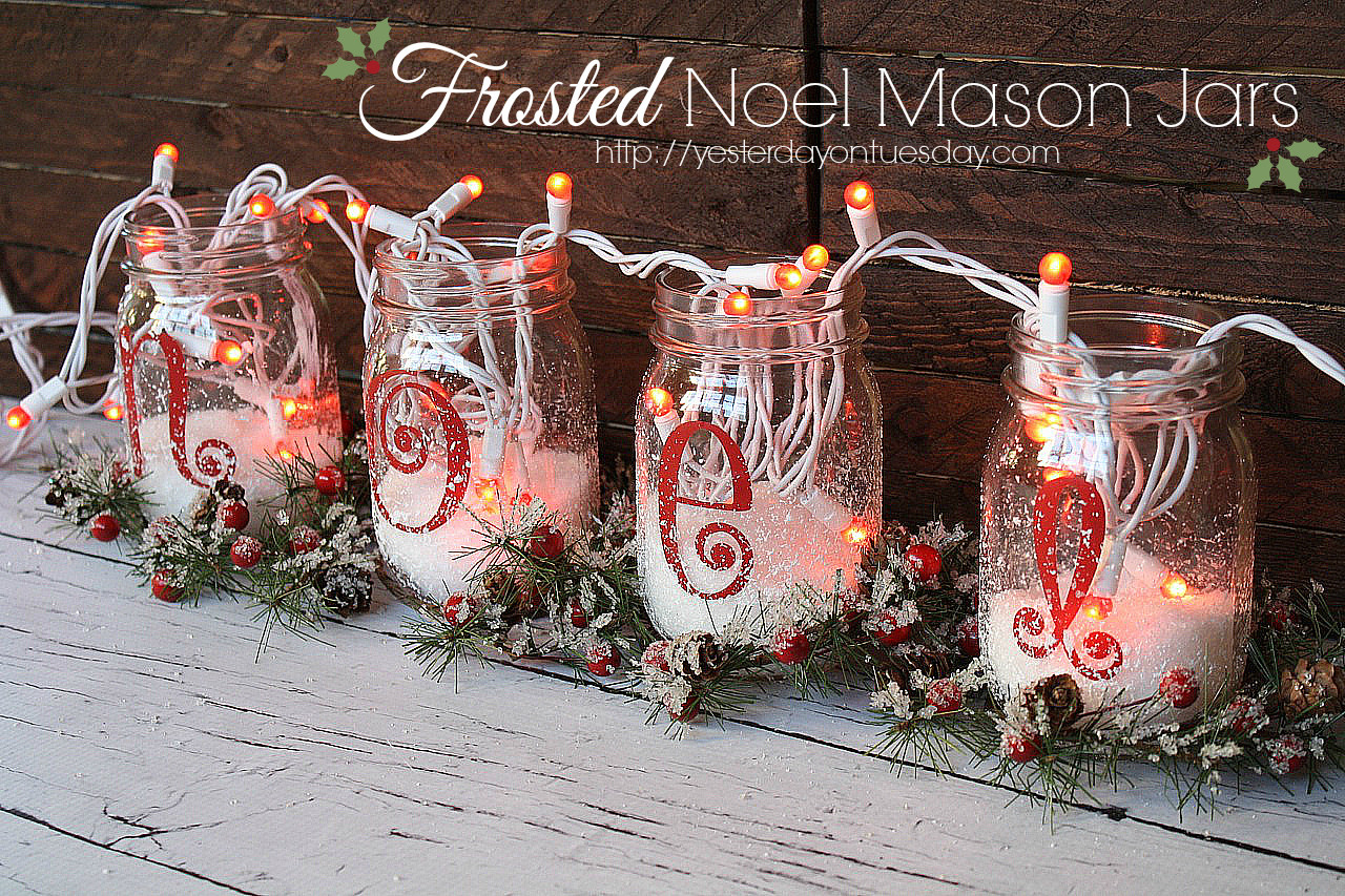 large vase filler ideas of a dozen fun filler ideas pertaining to frosted noel mason jars