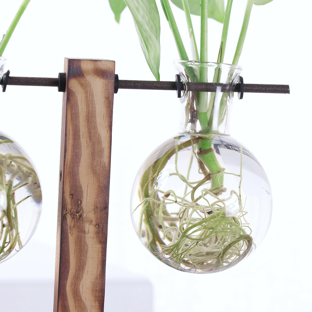 large vase stand of new vintage wooden stand glass hydroponic flower vase terrarium pertaining to new vintage wooden stand glass hydroponic flower vase terrarium container ball for xmax gift diy home wedding decoration favor in vases from home garden