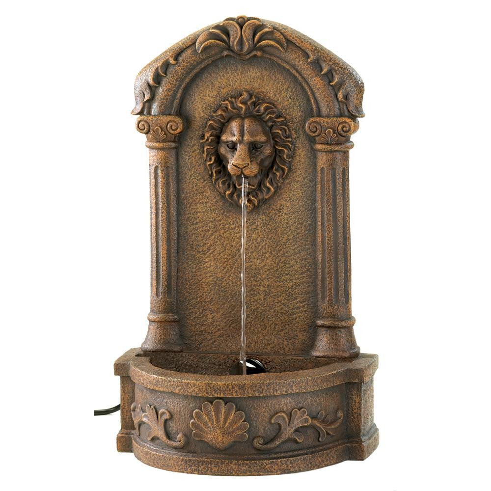 Large Vase Water Feature Of Outdoor Water Fountain Faux Stone Lion Head Wall Fountain for within Garden Pond Fountainsgarden Water Fountainbackyard Water Fountainsfloor Fountainfountain