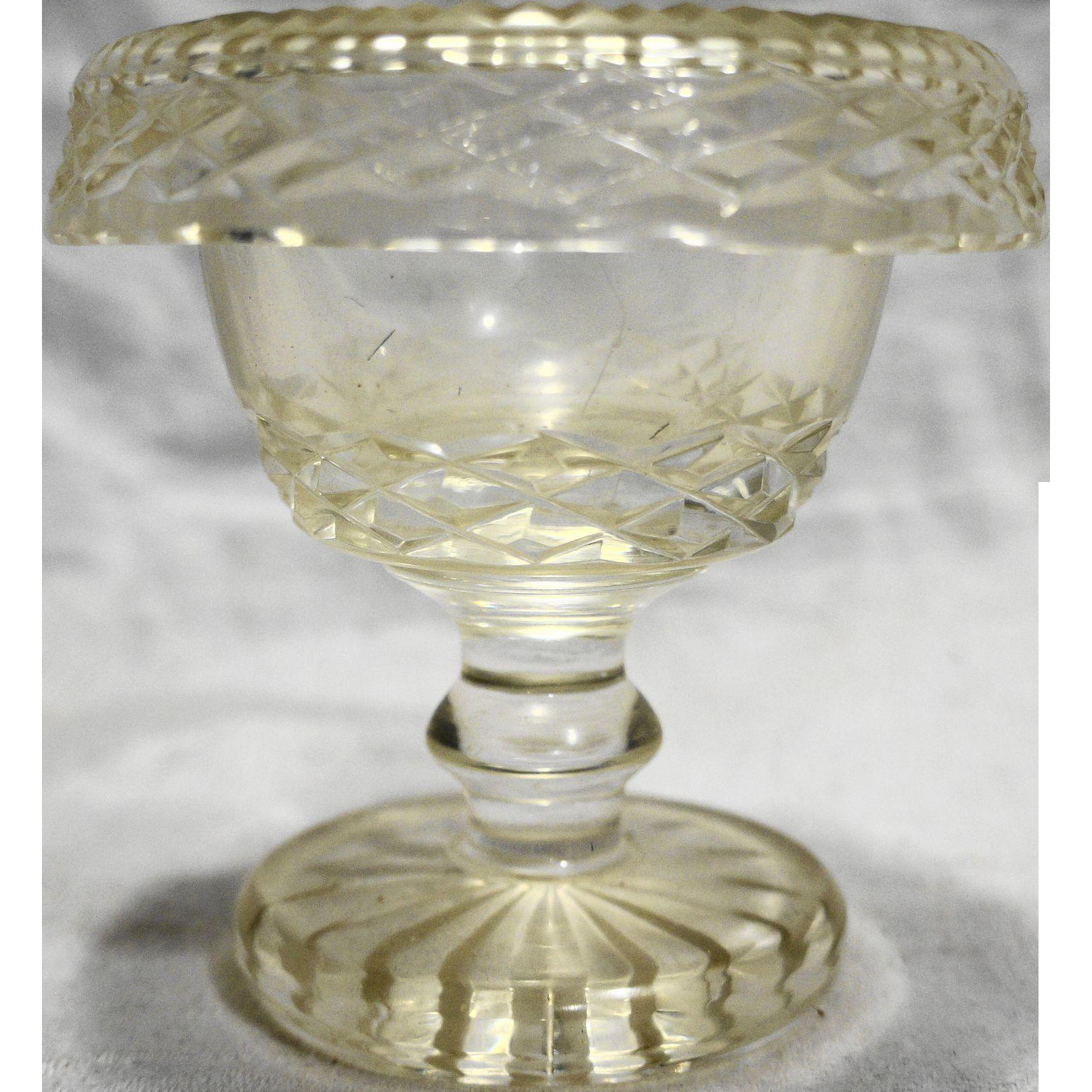 large waterford vase of waterford crystal master salt rolled rim 3 5 8 in waterford in waterford crystal master salt rolled rim 3 5 8 in
