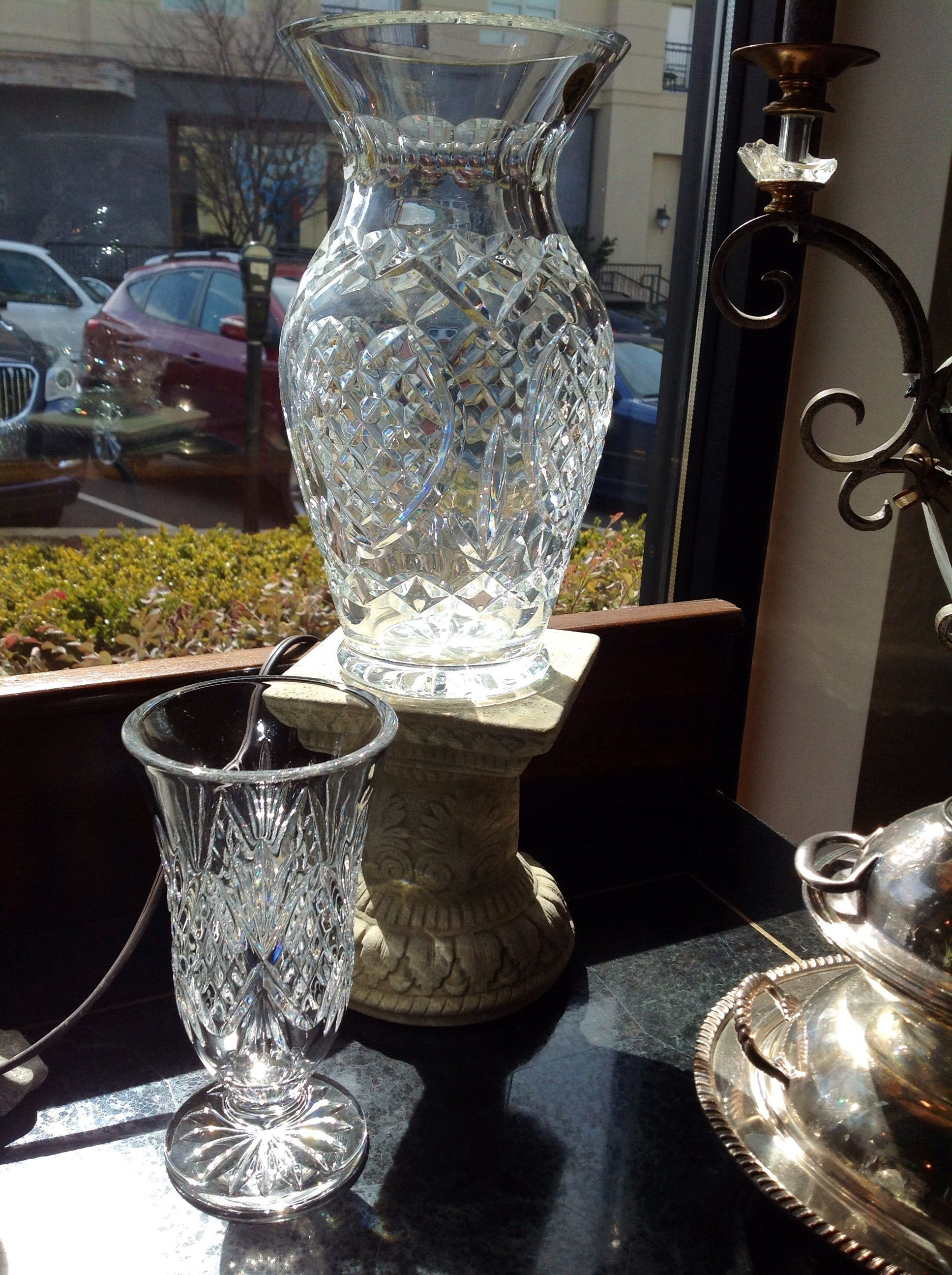 large waterford vase of waterford crystal vase large 225 00 small 65 00 call le villa in within waterford crystal vase large 225 00 small 65 00 call le villa in allen tx for details