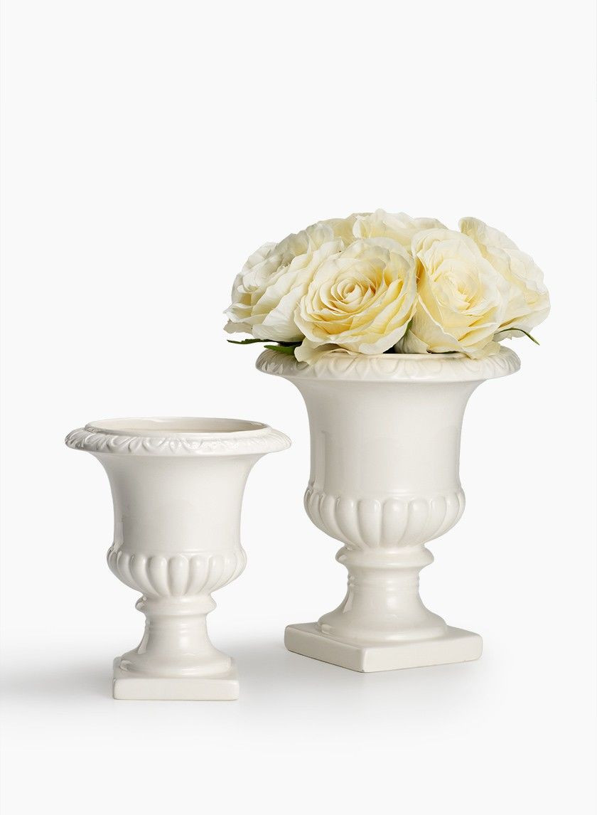Large White Urn Vase Of 7in 8 1 2in White Ceramic Urns Urn Creamy White and Centerpieces Inside 7in 8 1 2in White Ceramic Urns