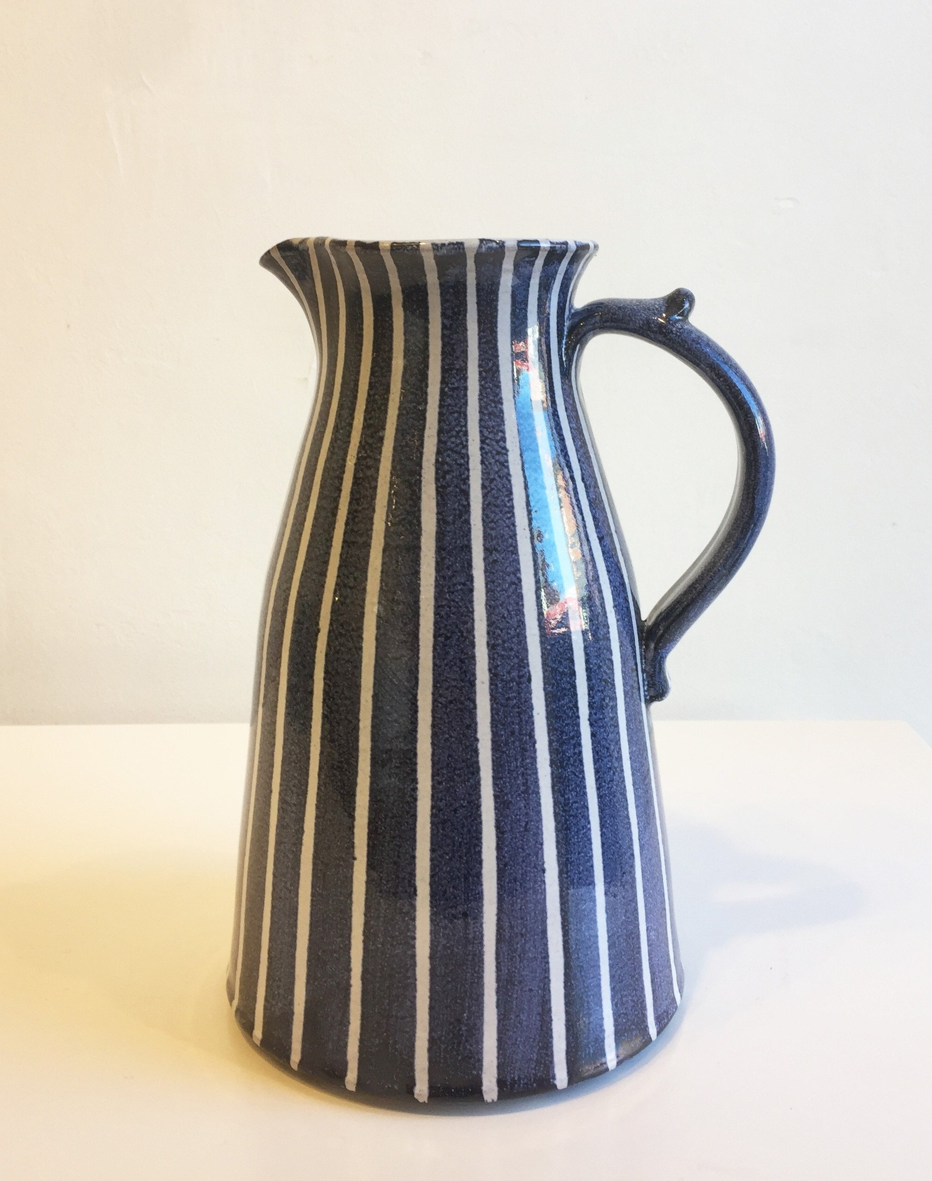 large white vase of tydd pottery white stripes tall jug sarah wiseman gallery throughout white stripes tall jug