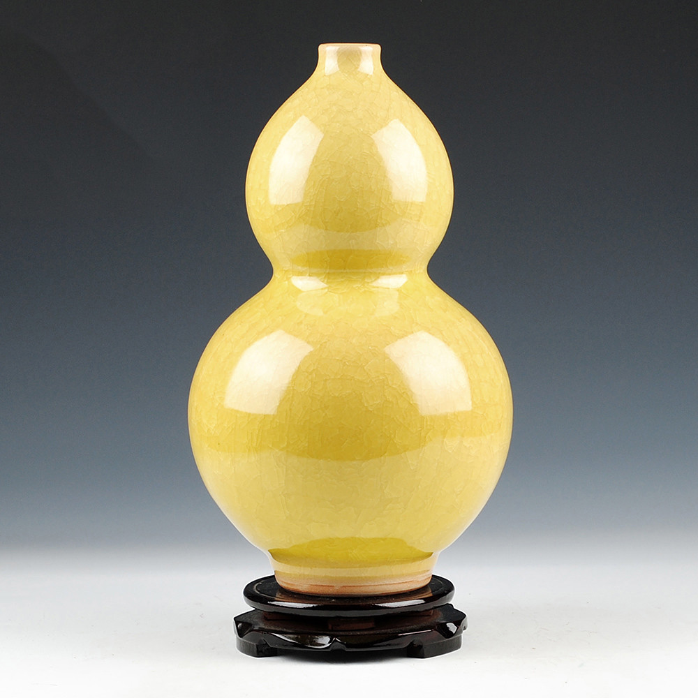 large yellow ceramic vase of china yellow vase set china yellow vase set shopping guide at throughout get quotations a· jingdezhen ceramics antique crackle glaze kiln andlyzing yellow gourd vase living room at home decoration