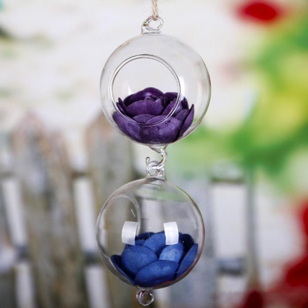 Lavender Glass Vase Of Adeeing Transparent Hanging Type Glass Ball Shape Vase for Water Inside Adeeing Transparent Hanging Type Glass Ball Shape Vase for Water Planting Home Wedding Decoration Gift In Flower Pots Planters From Home Garden On