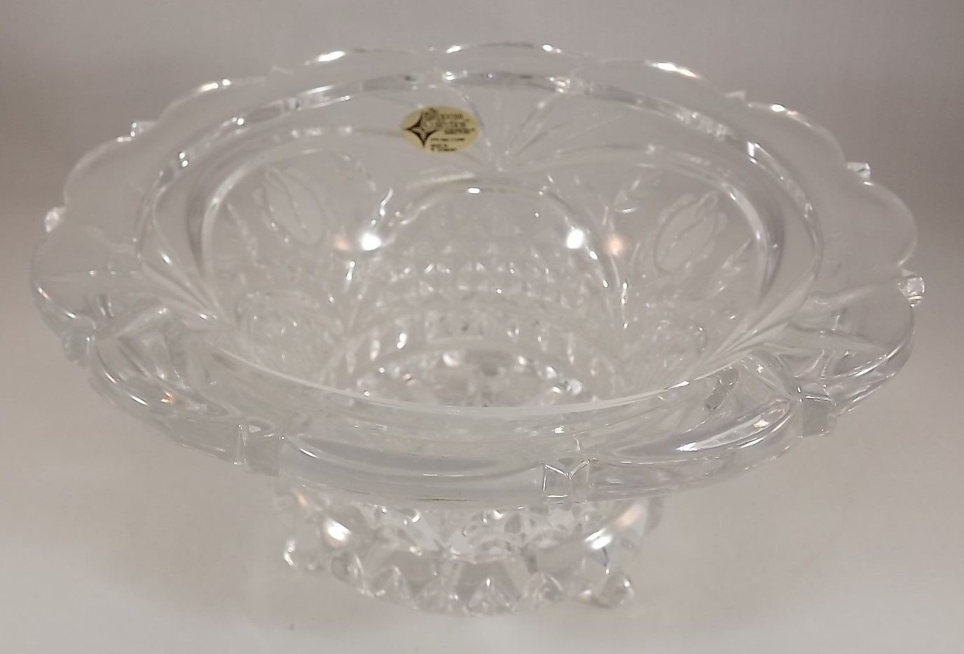 lead crystal vase ebay of the european collection germany 24 lead crystal candy dish bowl art intended for 9 of 10