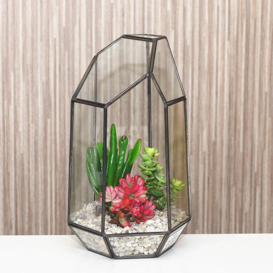 lead crystal vase made in poland of geometric glass vase terrarium by dingading terrariums with geometric glass vase terrarium