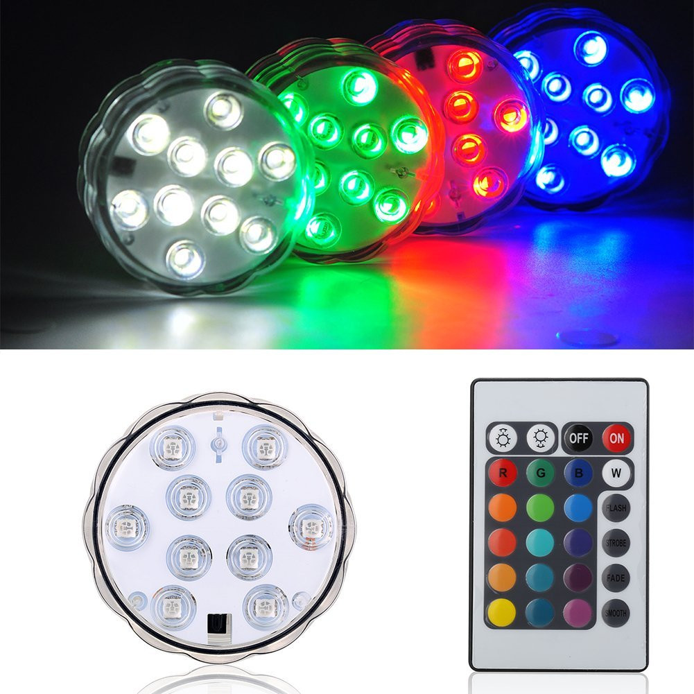led base lights for vases of amazon com kitosun submersible led lights battery rgbw multicolors for amazon com kitosun submersible led lights battery rgbw multicolors waterproof led light base with remote for wedding party events centerpieces vases