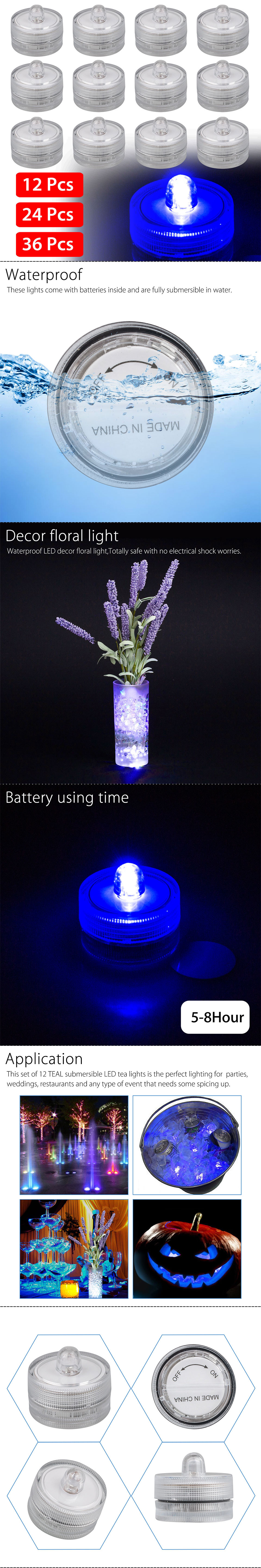 led vase lights wholesale of 12 24 36 x submersible waterproof underwater vase wedding battery within this set of 12 teal submersible led tea lights is the perfect lighting for parties weddings restaurants and any type of event that needs some spicing up