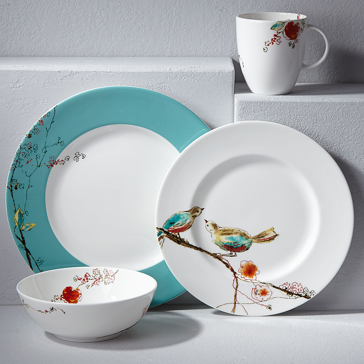 lenox china vases discontinued of chirp 4 pc place setting spring dinnerware with chirp 4 pc place setting