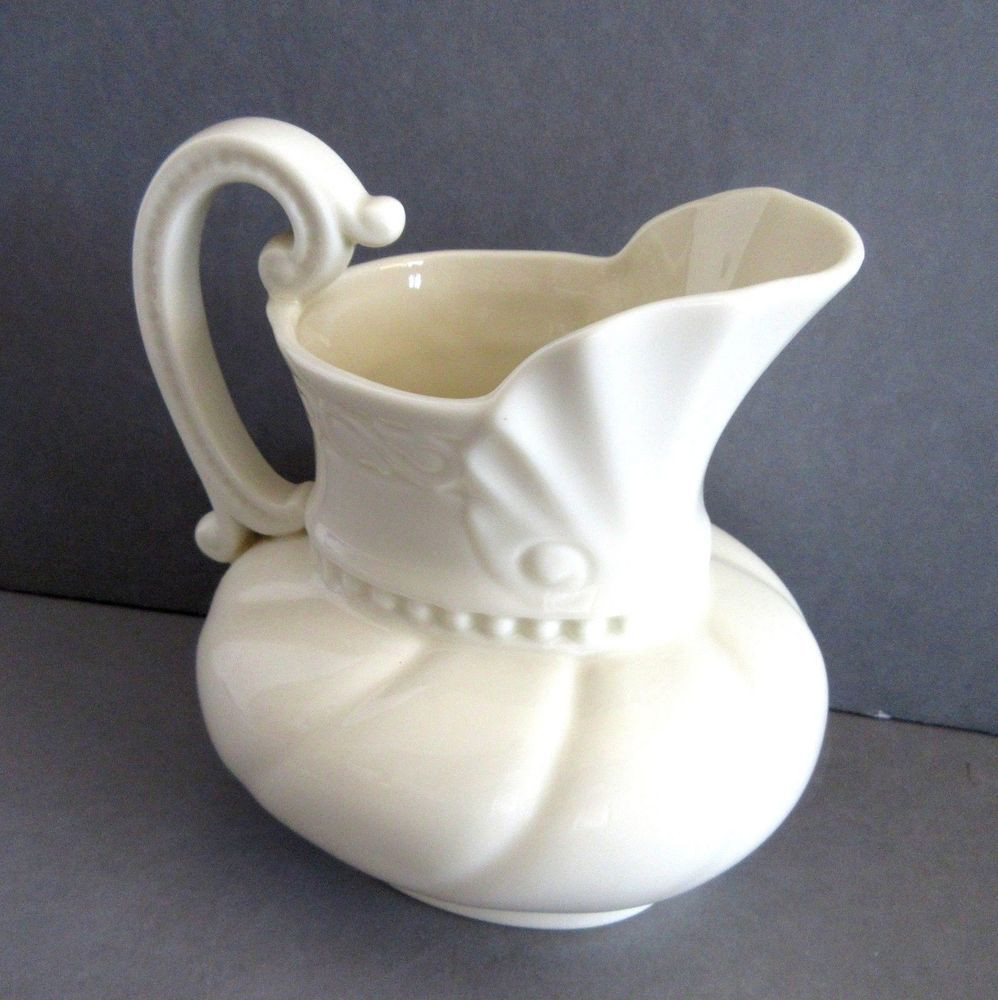 lenox clear glass vase of details about lenox colonial collection pitcher creamer syrup gravy regarding lenox pitcher creamer syrup 5 inch tall vase china colonial collection 16 oz lenox col