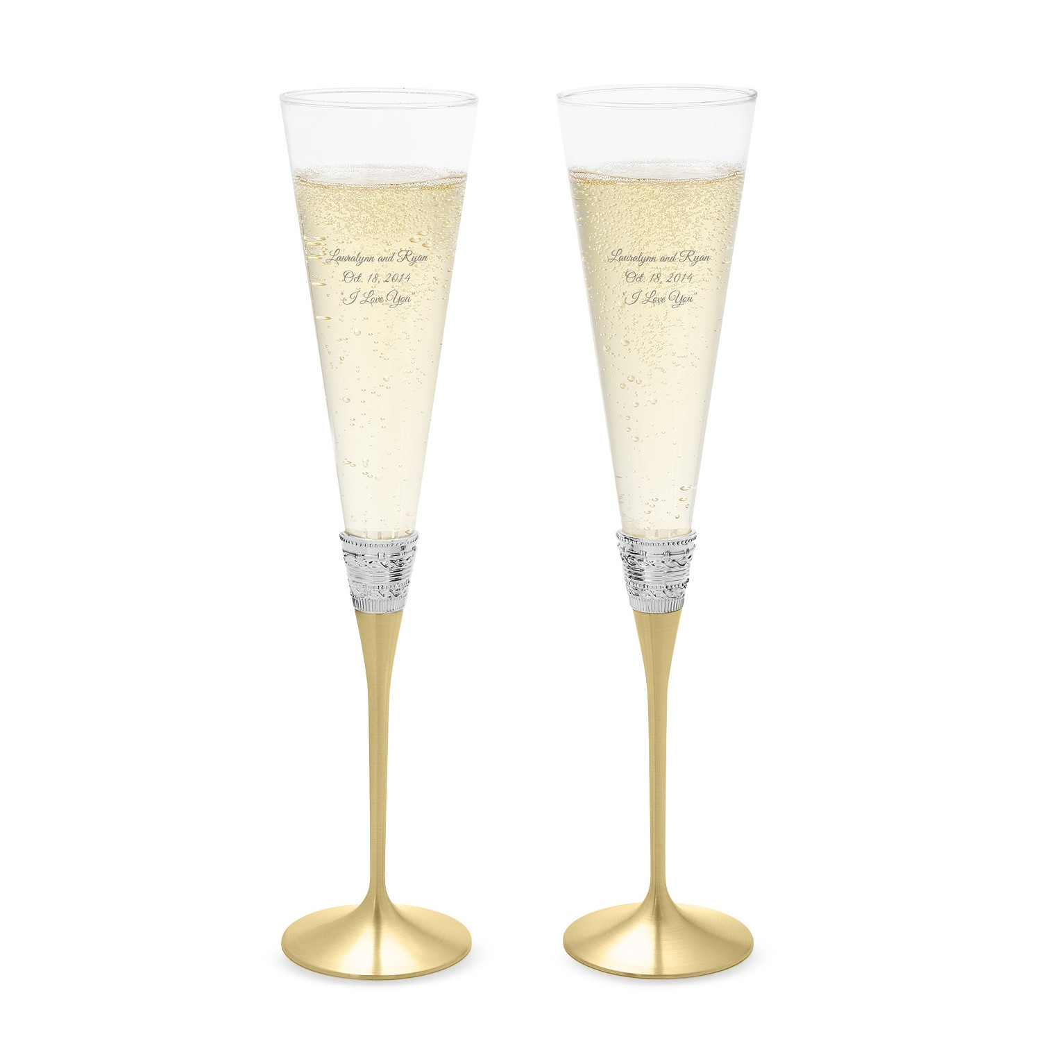 lenox crystal star vase of personalized vera wang by wedgwood with love gold toasting flutes in vera
