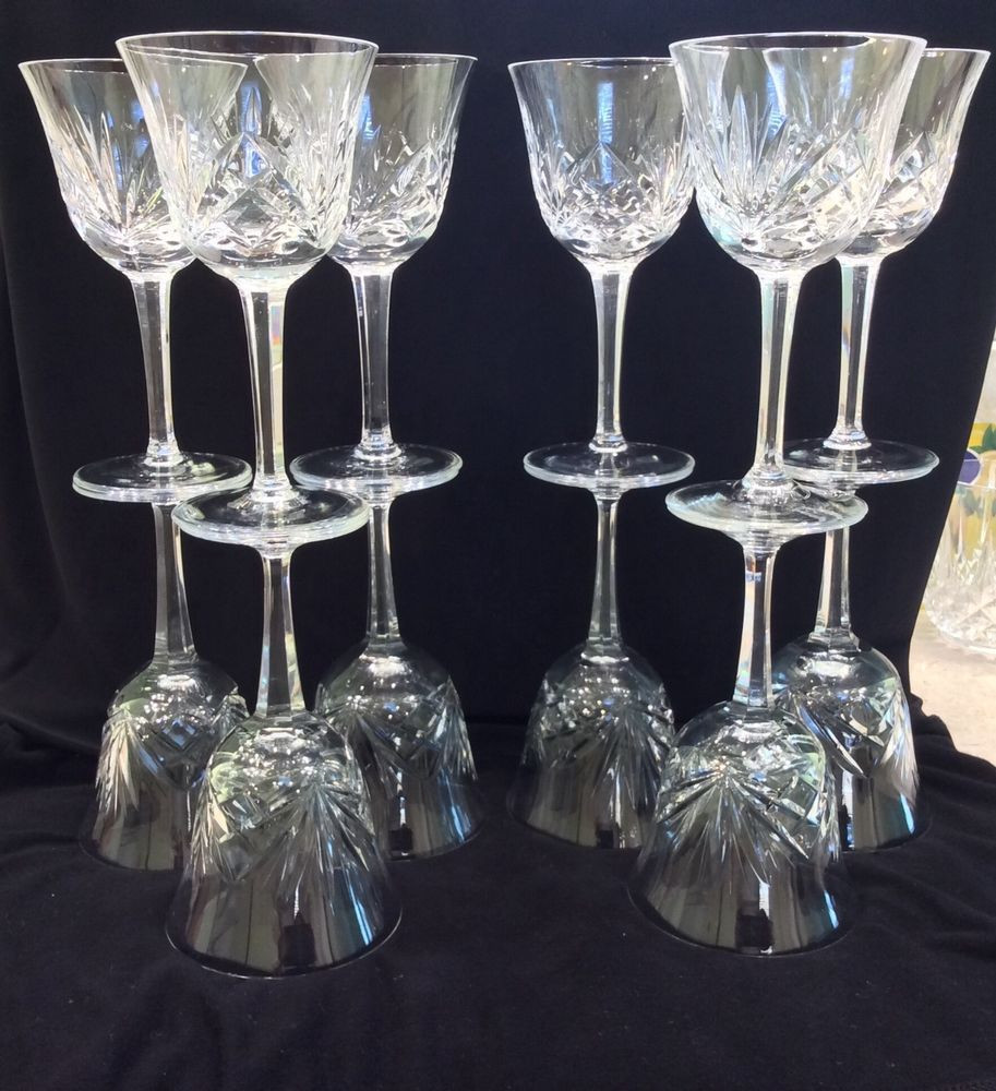 Lenox Crystal Vase Value Of Set 12 Gorham Cherrywood Clear Vintage Cut Crystal Wine Glasses for Set 12 Gorham Cherrywood Clear Vintage Cut Crystal Wine Glasses Goblets Gorham