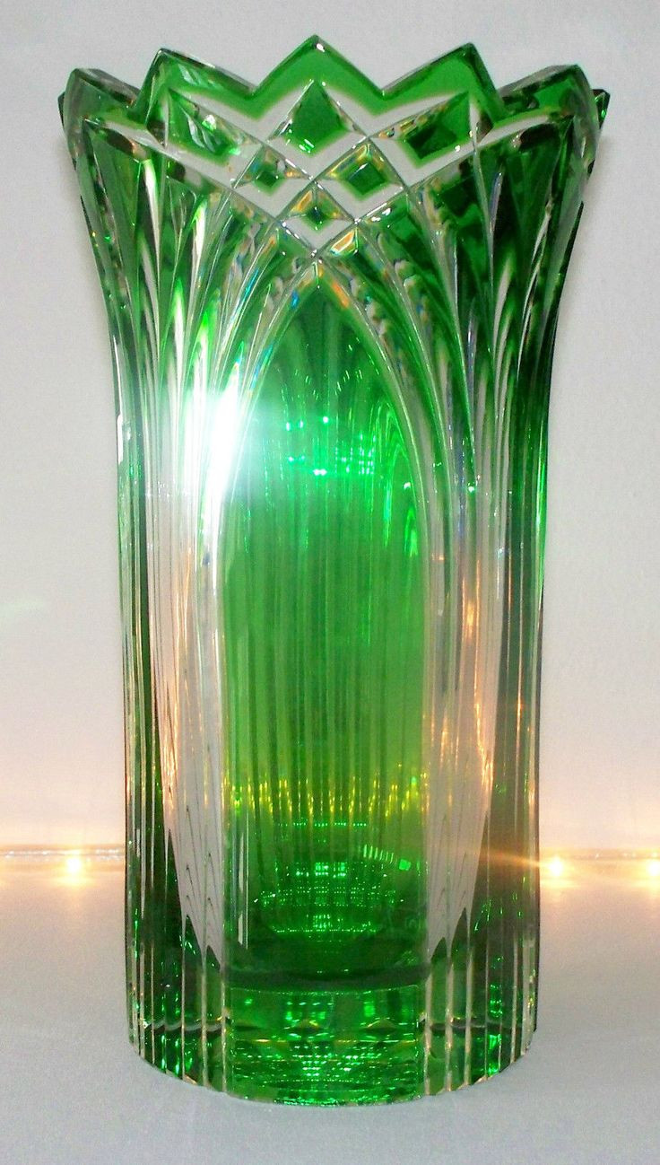 lenox fascination lead crystal vase of 28 best vase images on pinterest crystals flower vases and glass art throughout caesar crystal 8 cased green vase czech republic bohemian estate clear 1990s
