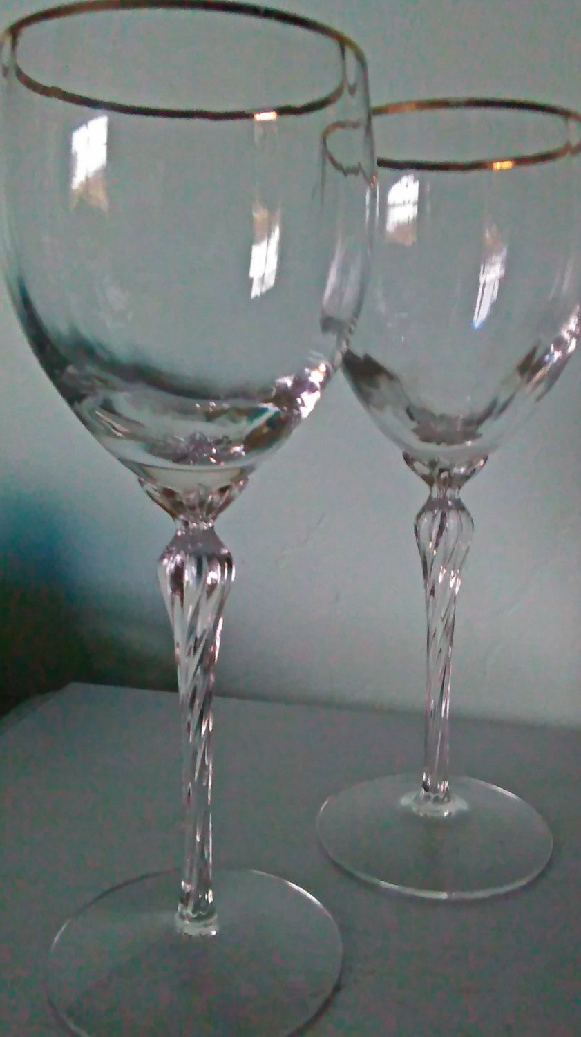Lenox Fascination Lead Crystal Vase Of Vintage Wine Glasses by Lenox Crystal Body with Gold Rim and Twisted Regarding Vintage Wine Glasses by Lenox Crystal Body with Gold Rim and Twisted Long Stem Set Vintage Lenox Long Stemmed Wine Glasses with Gold Rim Set by Sparkleset