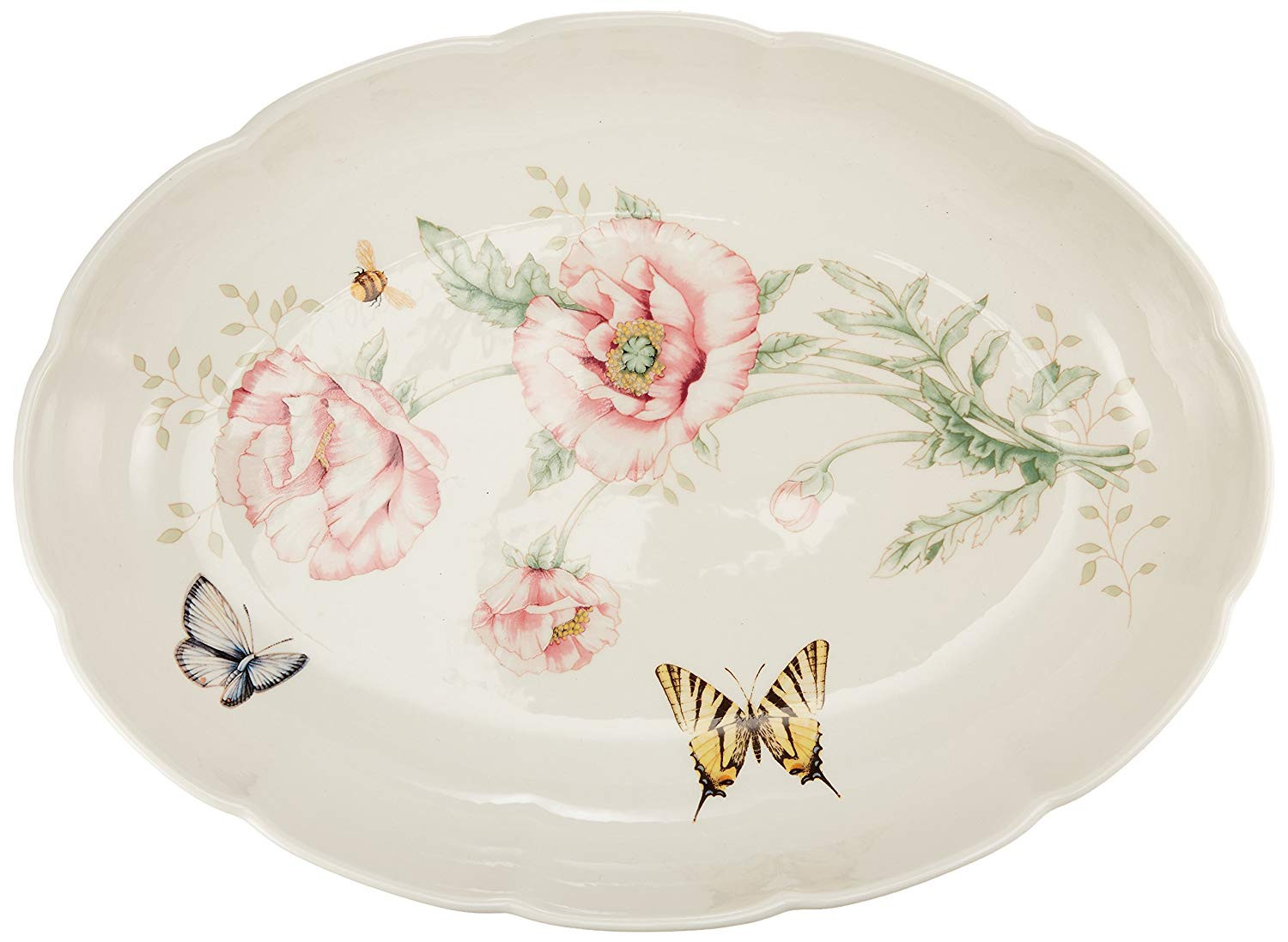 lenox fine crystal vase of amazon com lenox butterfly meadow scalloped oval baker casseroles regarding amazon com lenox butterfly meadow scalloped oval baker casseroles kitchen dining