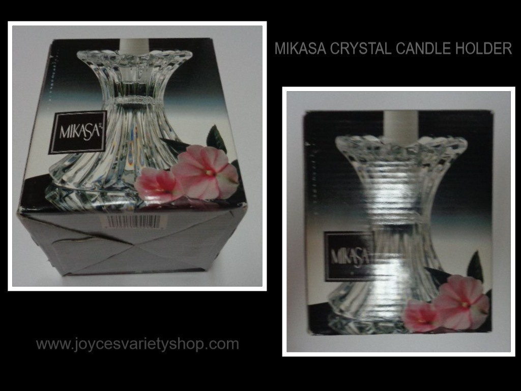 Lenox Heart Vase Of Home Garden Intended for Mikasa Crystal Candle Holder Nib 5